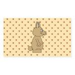 Conejo marrón claro lindo tarjetas de visita