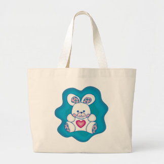 Conejo mimoso bolsa tela grande