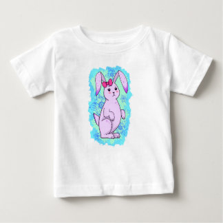 Conejo mono lila con Amola Playera De Bebé