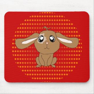 Conejo Mousepad de Brown Alfombrillas De Ratón