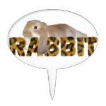 Conejo mullido - jengibre peludo de los conejitos  figura de tarta