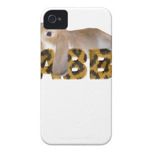 Conejo mullido - jengibre peludo de los conejitos iPhone 4 cobertura