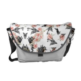 conejo, pájaros y flores del bolso bolsas messenger