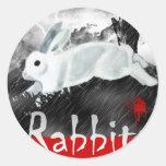 Conejo: Persecución del jinete de Beth Pegatinas