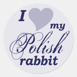 Conejo polaco etiquetas redondas