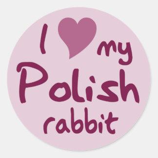 Conejo polaco pegatinas redondas