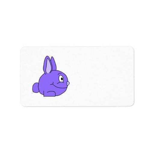 Conejo púrpura etiquetas de dirección