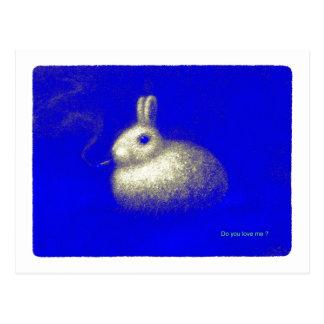 Conejo que fuma tarjetas postales