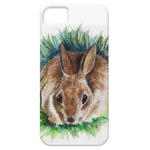 Conejo que oculta en la hierba - lápiz de la iPhone 5 carcasa
