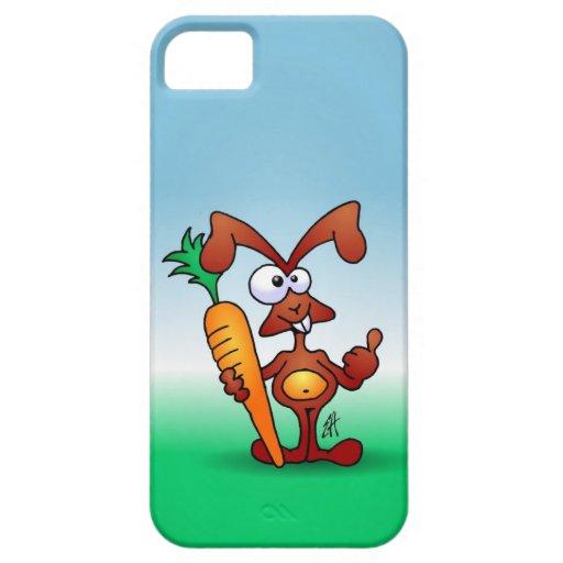 Conejo que sostiene una zanahoria sana iPhone 5 Case-Mate cárcasas