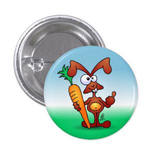 Conejo que sostiene una zanahoria sana pins