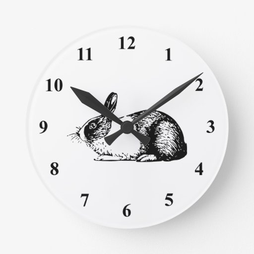 Conejo Reloj Redondo Mediano