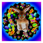 Conejo retro impresiones