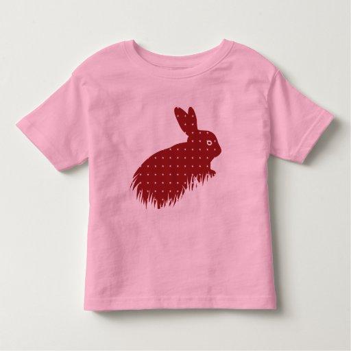 Conejo rojo playera de bebé