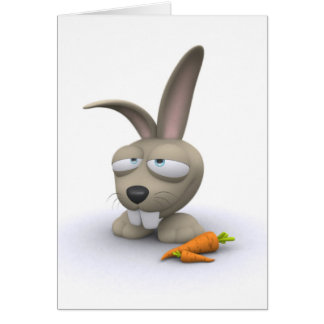 Conejo Tarjeta De Felicitación
