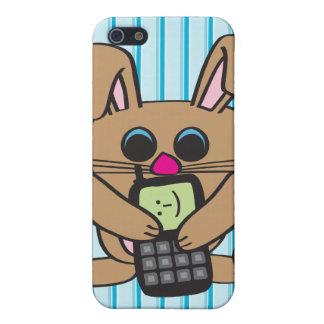 Conejo - teléfono celular - caso del iPhone 4 iPhone 5 Protectores