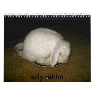 conejo tonto calendario de pared