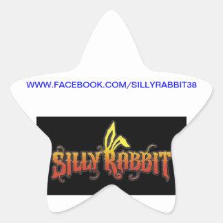 Conejo tonto calcomanía forma de estrella personalizada