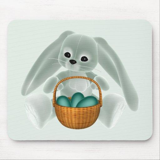 Conejo verde de Pascua Alfombrilla De Raton