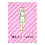 Conejo vestido como camarera invitacion personal