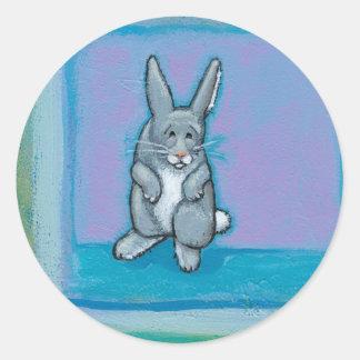 Conejo viejo del arte único de la madurez de la pegatinas redondas