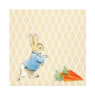 Conejo y amigos impresión en tela
