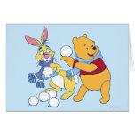 Conejo y bah tarjeta de felicitación