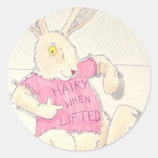 conejo y huevo lindos de conejito de pascua del pegatina redonda