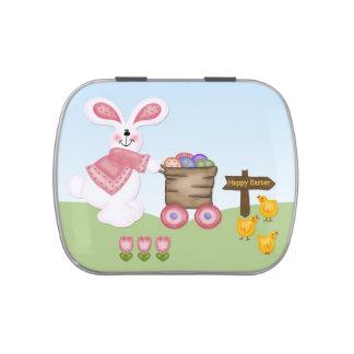 Conejo y polluelos de Pascua Jarrones De Dulces
