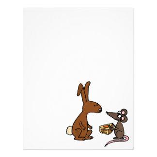 Conejo y ratón de conejito plantilla de membrete