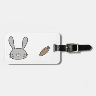 Conejo y zanahoria etiquetas para maletas