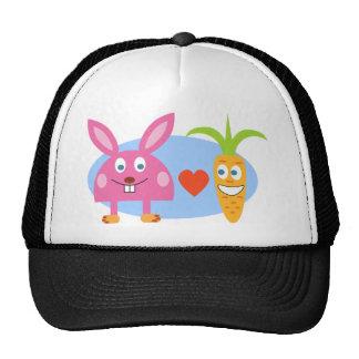 Conejo y zanahoria gorro de camionero