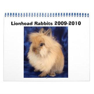 Conejos 2009-2010 de Lionhead Calendario