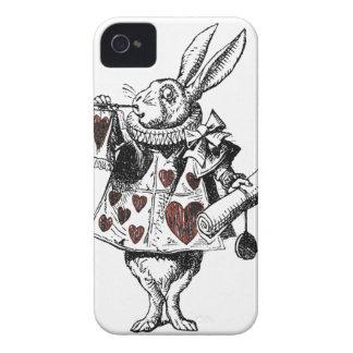 Conejos blancos de los corazones - Alicia en el pa Case-Mate iPhone 4 Cobertura