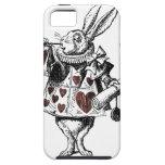 Conejos blancos de los corazones - Alicia en el pa iPhone 5 Case-Mate Protectores