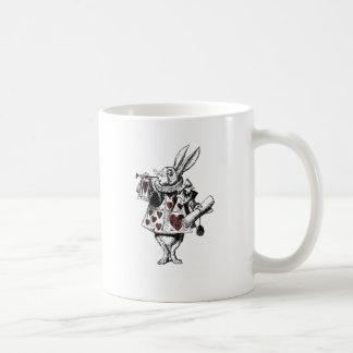 Conejos blancos de los corazones - Alicia en el Taza De Café
