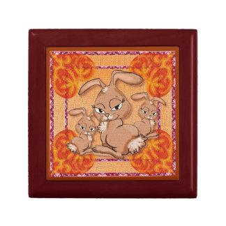 Conejos de conejito caja de regalo