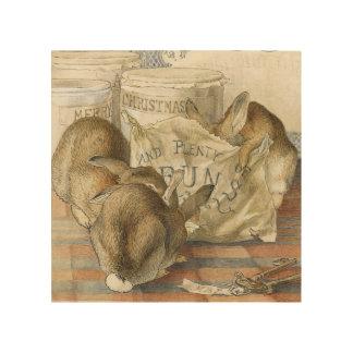 Conejos de conejito de Beatrix Potter Impresiones En Madera