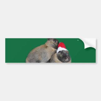 Conejos de conejito del navidad con Año Nuevo del  Pegatina Para Auto
