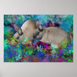 Conejos de conejito en Fantasyland: Un cuento de l Poster