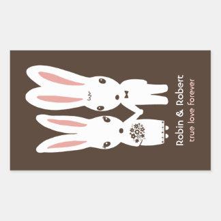 Conejos de conejito que casan la novia y al novio rectangular altavoz