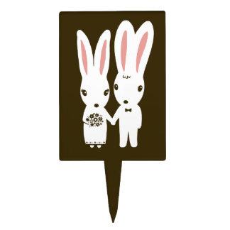 Conejos de conejito que se casan - novia y novio l figuras para tartas