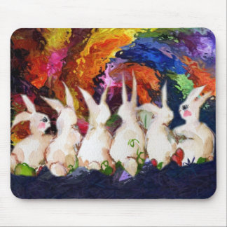 conejos de conejito alfombrilla de raton