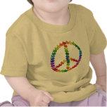 Conejos de la paz camisetas
