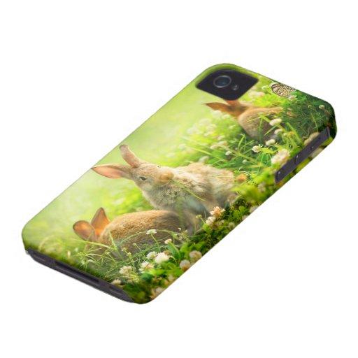 Conejos de Pascua Case-Mate iPhone 4 Cárcasas