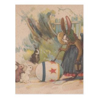 Conejos de Pascua del vintage Postales