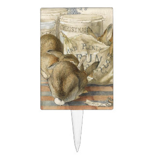 Conejos del navidad en la panadería decoración de tarta