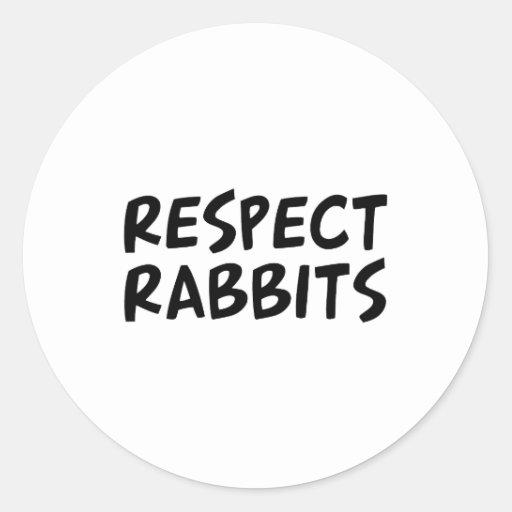 Conejos del respecto pegatina redonda