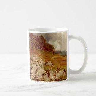 Conejos del vintage taza de café