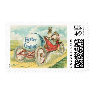 Conejos en una impulsión de domingo - regalo de sellos
